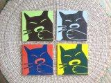 手描きコースターセット(あくび猫)