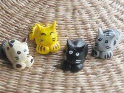 画像1: 猫のハシ置きセット