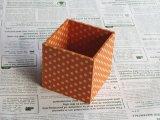 水玉のペン立て(オレンジ)