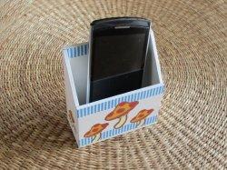 画像2: きのこのスマホ・携帯ホルダー(ブルー)