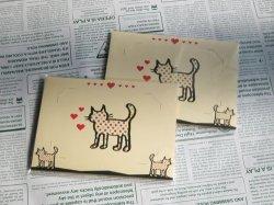 画像1: 【デザイン】猫の写真立て(ノベルティパック)